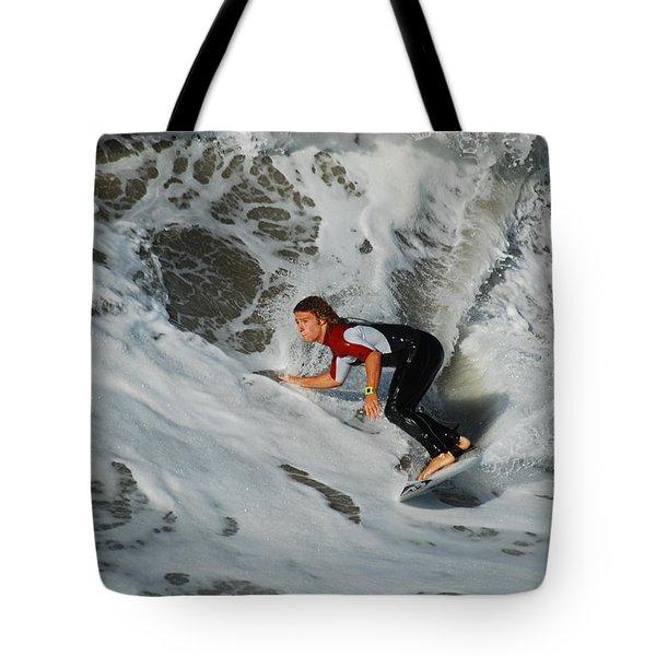 Surfs Up Tote Bag by James Kirkikis