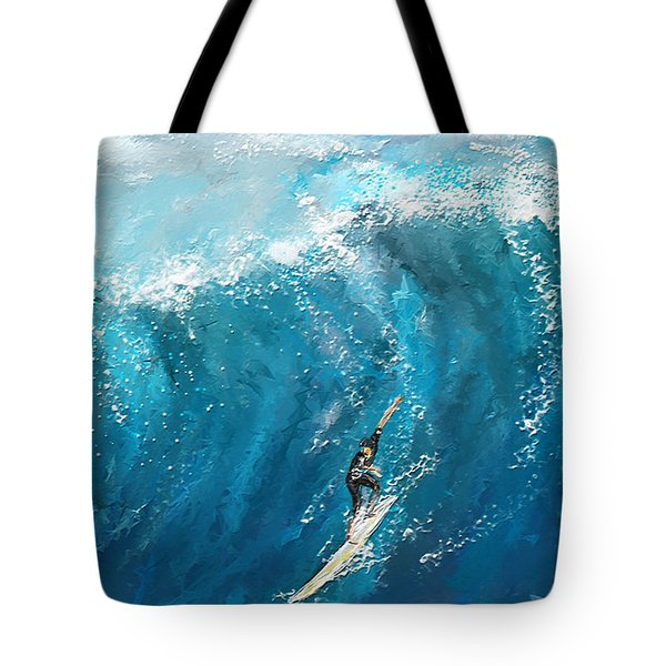 Surf's Up- Surfing Art Tote Bag