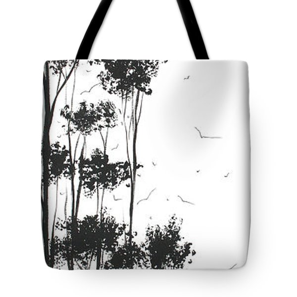 Surreal Abstract Landscape Art Painting By Madart Tote Bag by Megan Duncanson