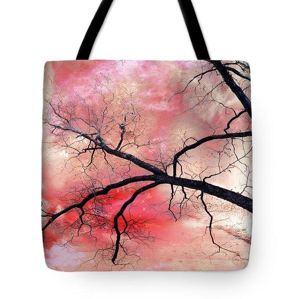 Surreal Fantasy Gothic Nature Tree Sky Landscape - Fantasy Nature Tote Bag