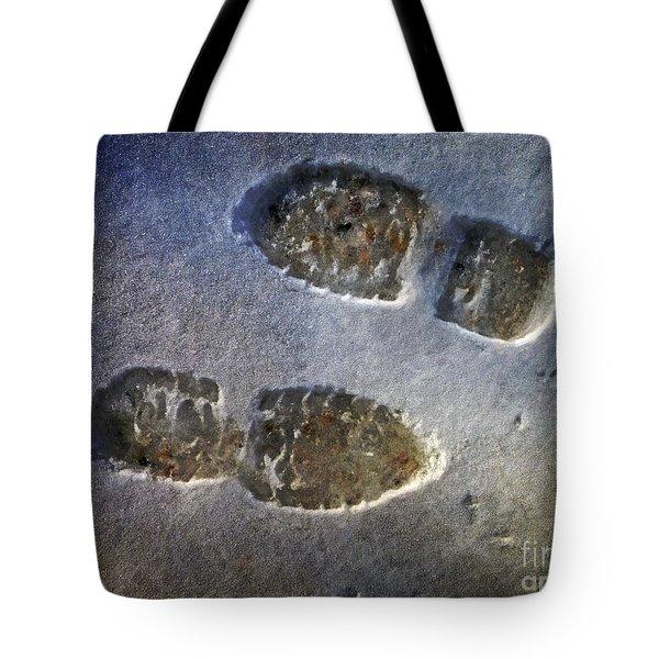 Surreal Footprints Tote Bag by Dee Flouton