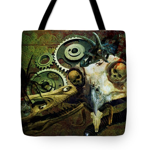 Tote Bag featuring the painting Surreal Nightmare by Ally  White