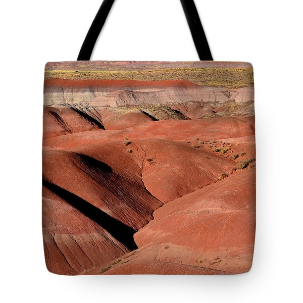 Tote Bag featuring the photograph Surreal Red Landscape by Nadalyn Larsen