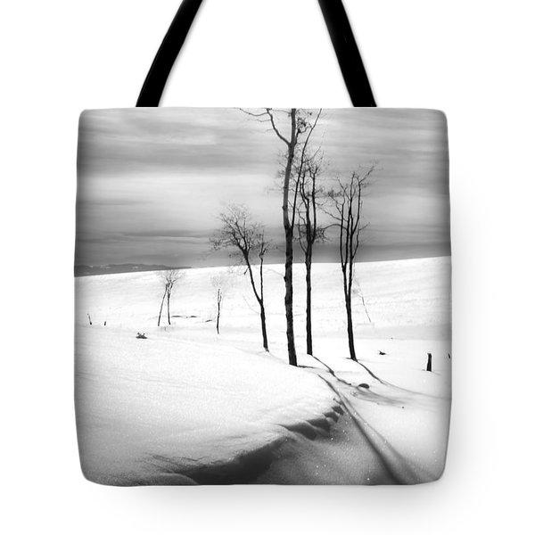Surreal Snowscape 2 Tote Bag by Theresa Tahara