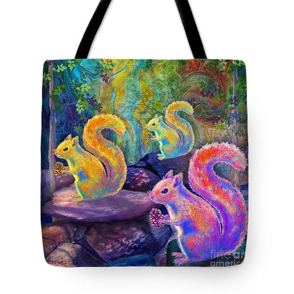 Surreal Squirrels In Square Tote Bag