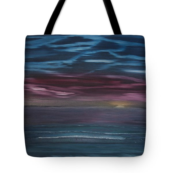 Tote Bag featuring the painting Surreal Sunset by Ian Donley