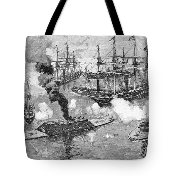 Surrender Of The Tennessee, Battle Of Mobile Bay, Illustration From Battles And Leaders Tote Bag