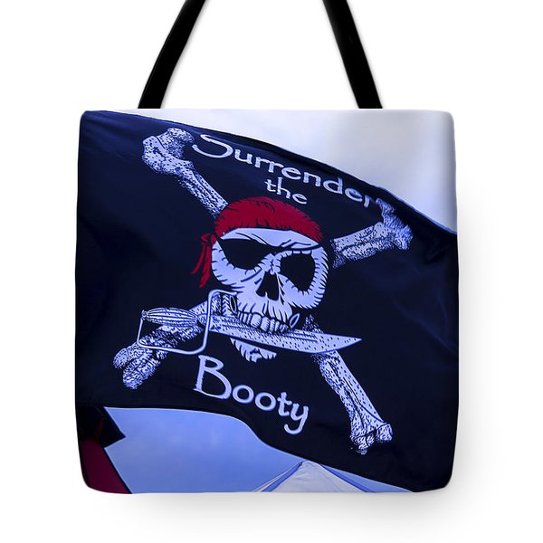 Surrender The Booty Pirate Flag Tote Bag by Garry Gay