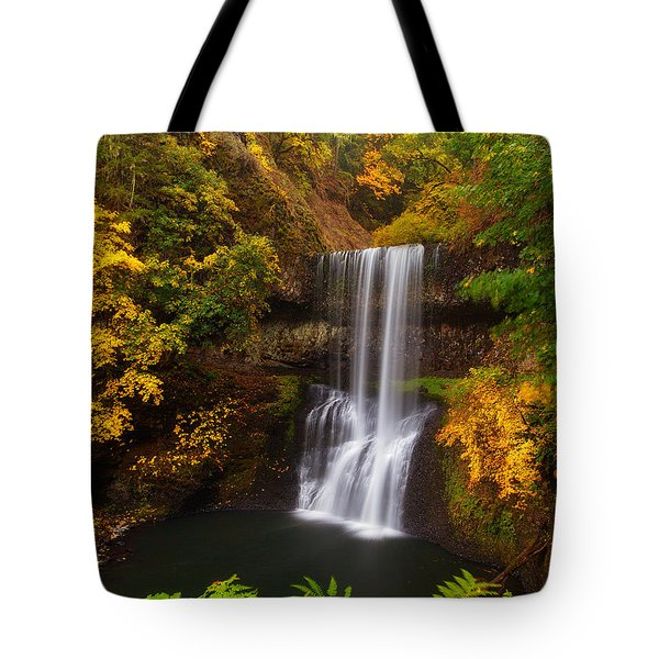 Surrounded By Fall Tote Bag by Darren  White