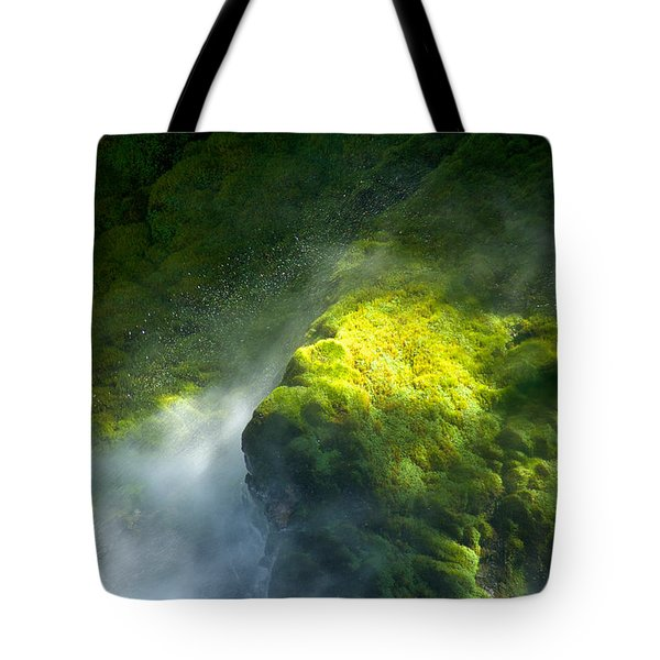 Surrounded By Mist   Vertical Tote Bag by Mary Lee Dereske