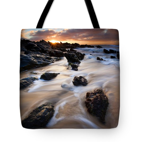 Surrounded By The Tides Tote Bag