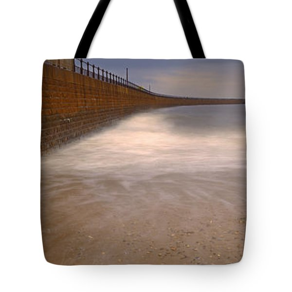 Surrounding Wall Along The Sea, Roker Tote Bag