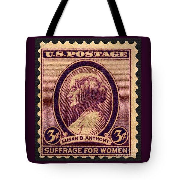 Susan B. Anthony Commemorative Postage Stamp Tote Bag