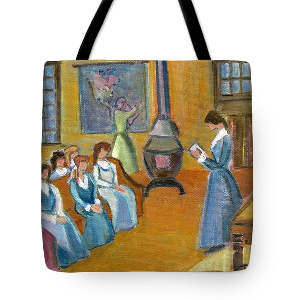 Susan B. Anthony Teaching In Canajoharie Tote Bag by Betty Pieper