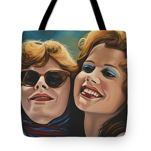 Susan Sarandon And Geena Davies Alias Thelma And Louise Tote Bag