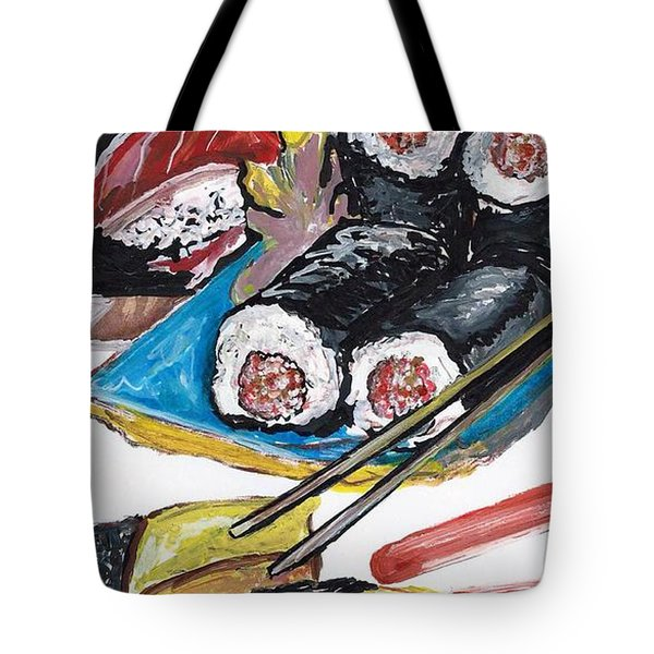 Sushi Bar Painting Tote Bag