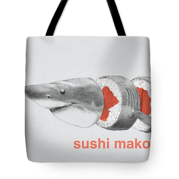 Sushi Mako Tote Bag by Eric Fan