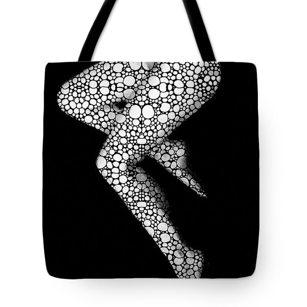 Suspended - Artistic Nude Stone Rock'd Art By Sharon Cummings Tote Bag by Sharon Cummings
