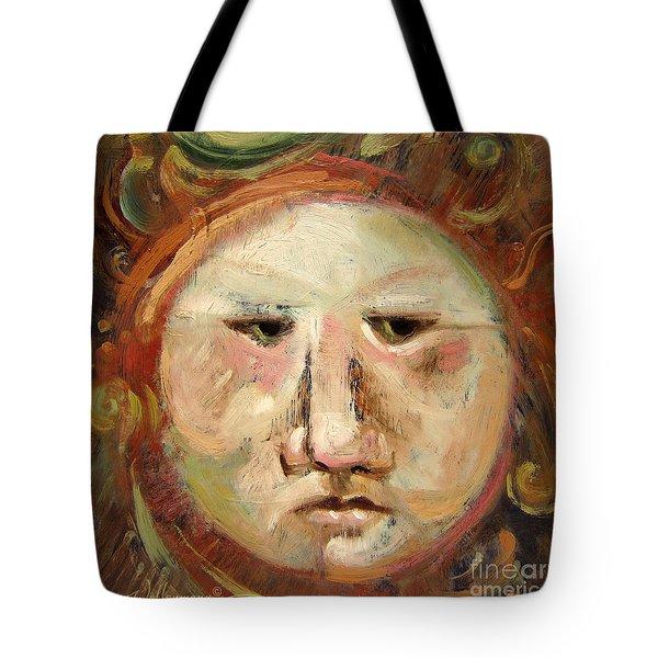 Suspicious Moonface Tote Bag