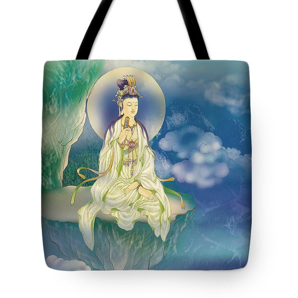 Sutra-holding Kuan Yin Tote Bag by Lanjee Chee