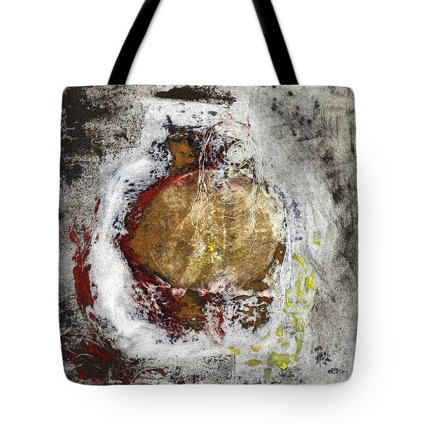 Tote Bag featuring the painting Swallowed by Lesley Fletcher