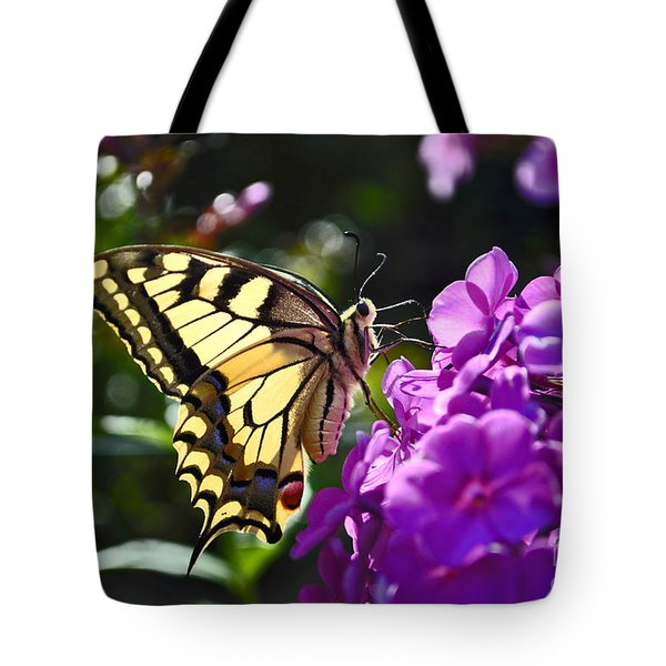 Swallowtail On A Flower Tote Bag