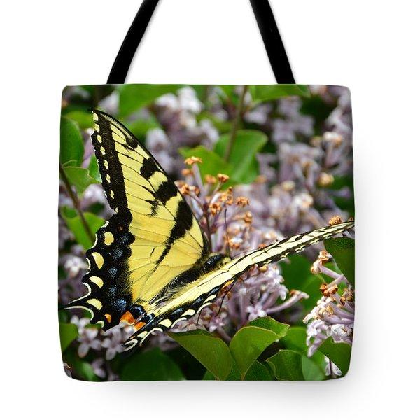 Swallowtail On Lilacs Tote Bag