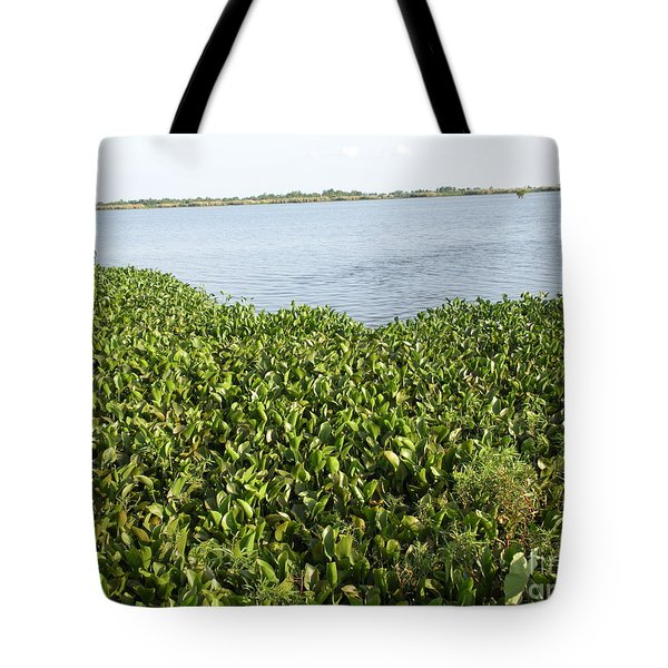 Tote Bag featuring the photograph Swamp Hyacinths Water Lillies by Joseph Baril