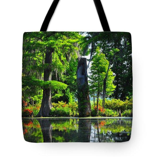 Swamp In Bloom Tote Bag