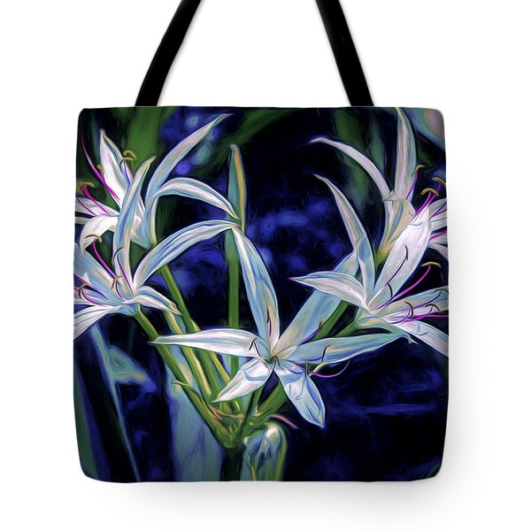 Tote Bag featuring the photograph Swamp Lilies by Steven Sparks