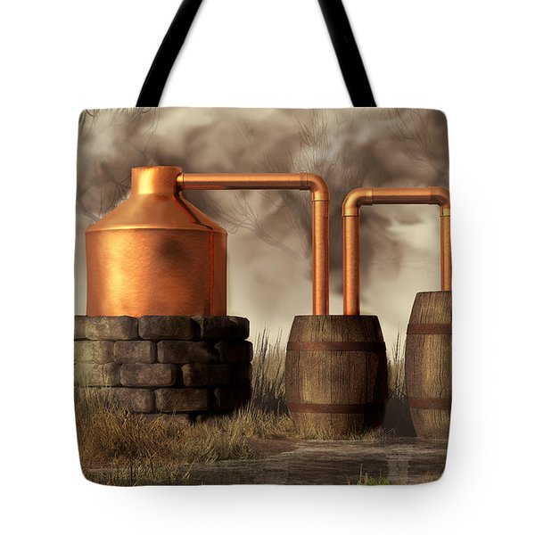 Swamp Moonshine Still Tote Bag by Daniel Eskridge