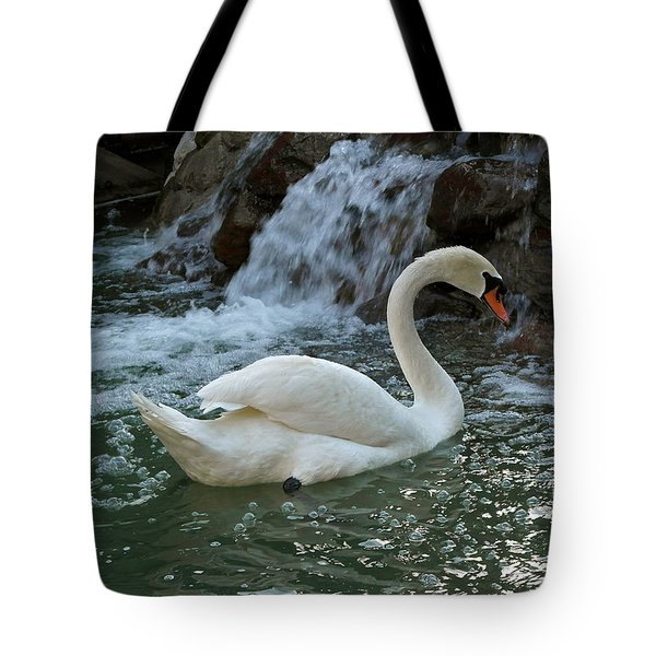 Swan A Swimming Tote Bag