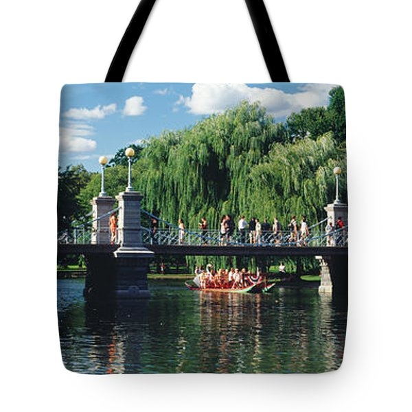 Swan Boat In The Pond At Boston Public Tote Bag