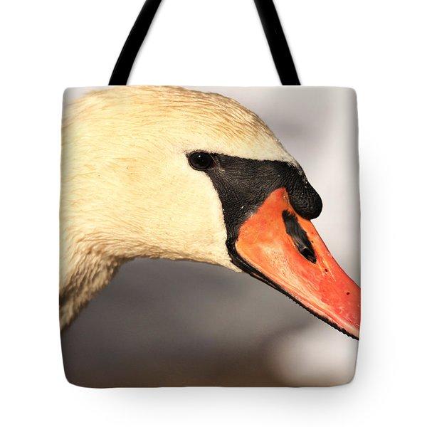 Swan Close Up Tote Bag