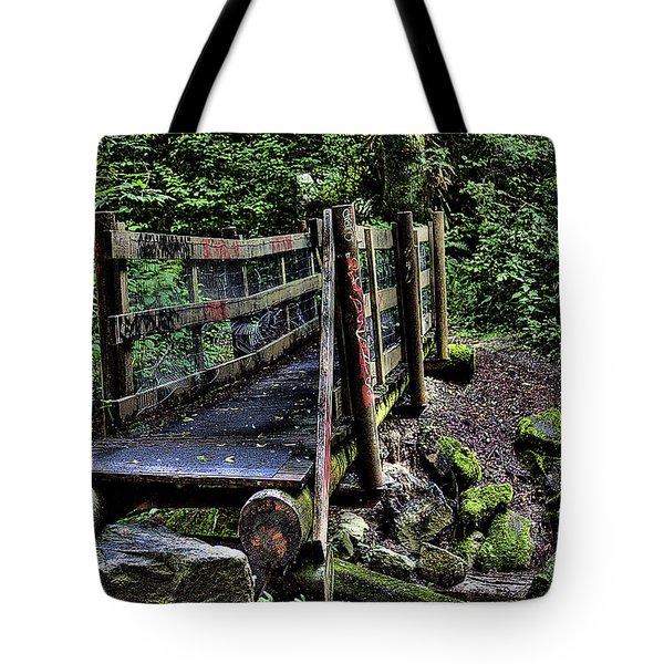 Swan Creek Footbridge Tote Bag