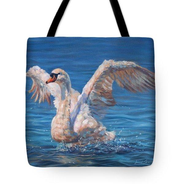 Swan Tote Bag by David Stribbling