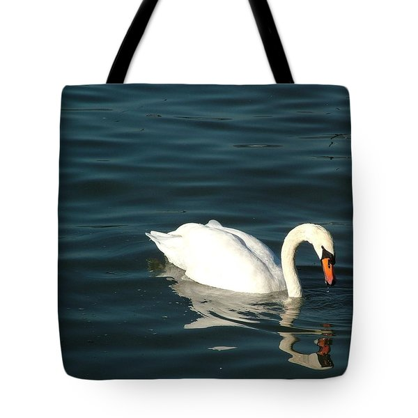 Swan Elegance Tote Bag by Kathy Churchman