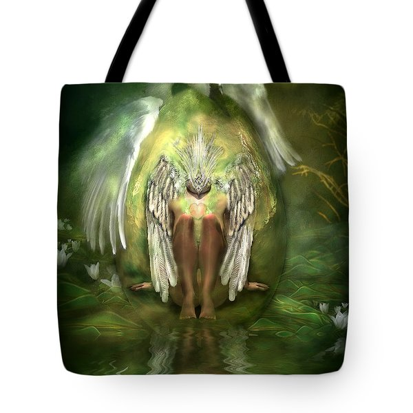 Swan Goddess Tote Bag