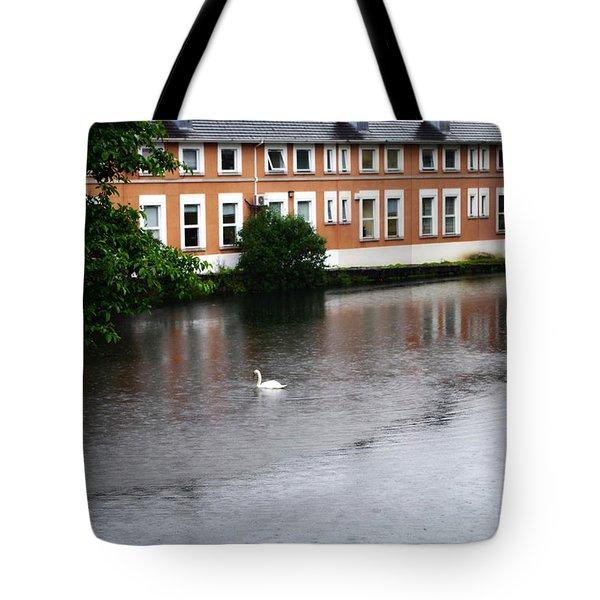Swan In Dublin Tote Bag