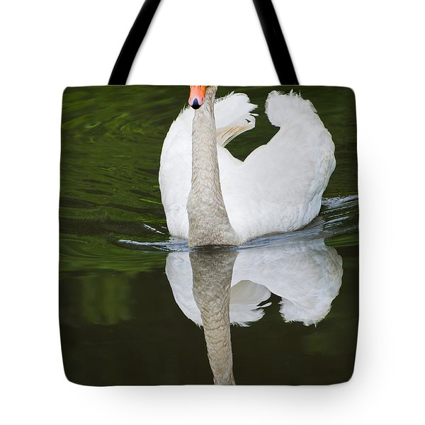 Tote Bag featuring the photograph Swan In Motion by Gary Slawsky
