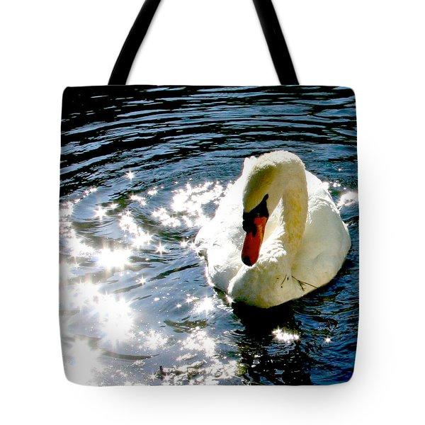 Swan In Sun Sparkles 02 Tote Bag