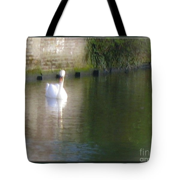 Tote Bag featuring the photograph Swan In The Canal by Victoria Harrington