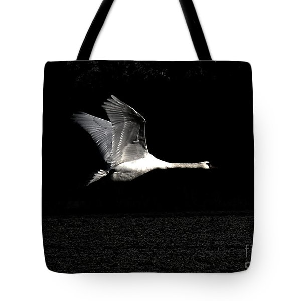 Swan In The Night Tote Bag