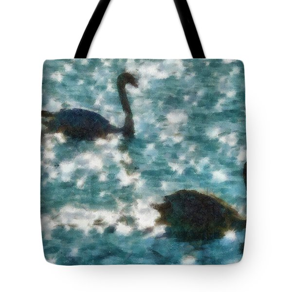 Swan Lake Tote Bag by Ayse Deniz