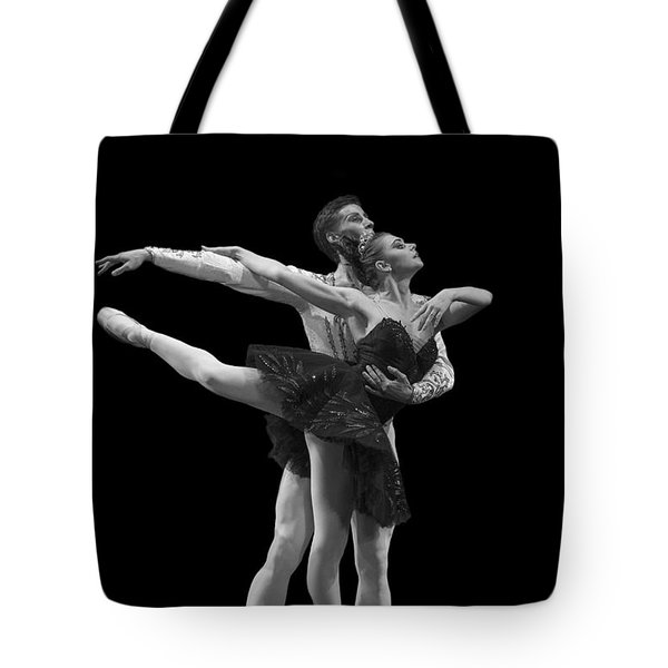 Swan Lake  Black Adagio  Russia  Tote Bag by Clare Bambers
