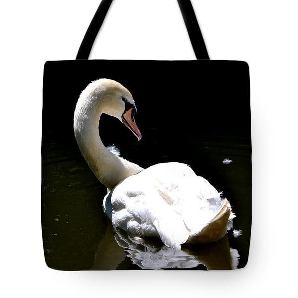 Tote Bag featuring the photograph Swan Lake by Deena Stoddard