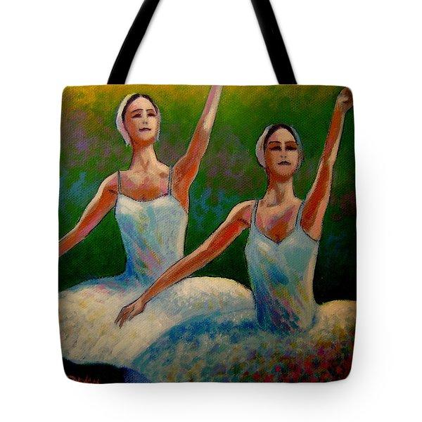 Swan Lake II Tote Bag by John  Nolan