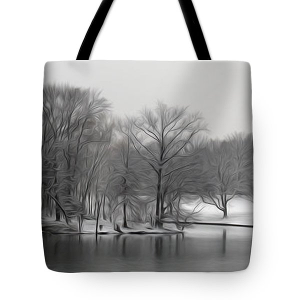 Tote Bag featuring the digital art Swan Lake by Kelvin Booker