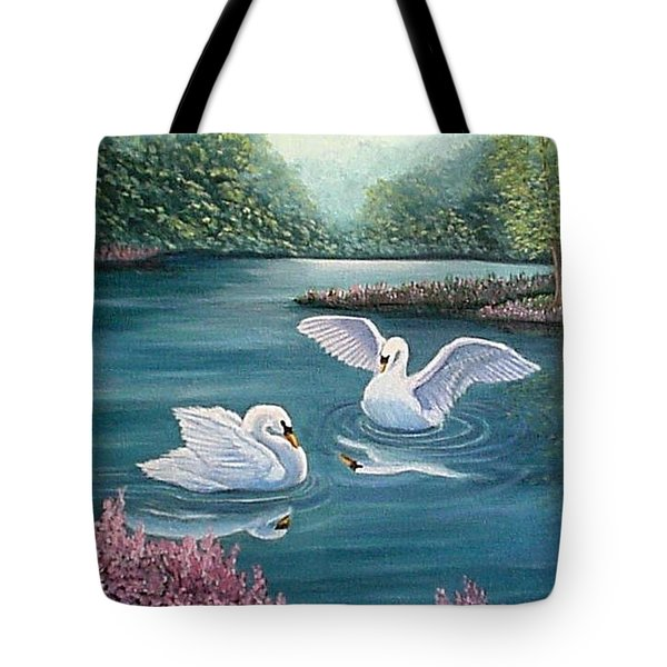 Swan Lake Serenity Tote Bag