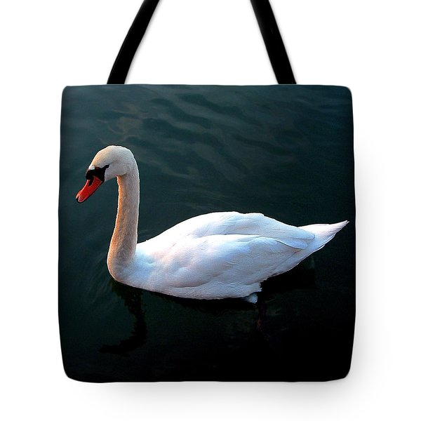 Swan Tote Bag by Marc Philippe Joly